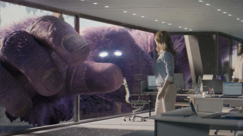 Monster.com Hand through a window VFX