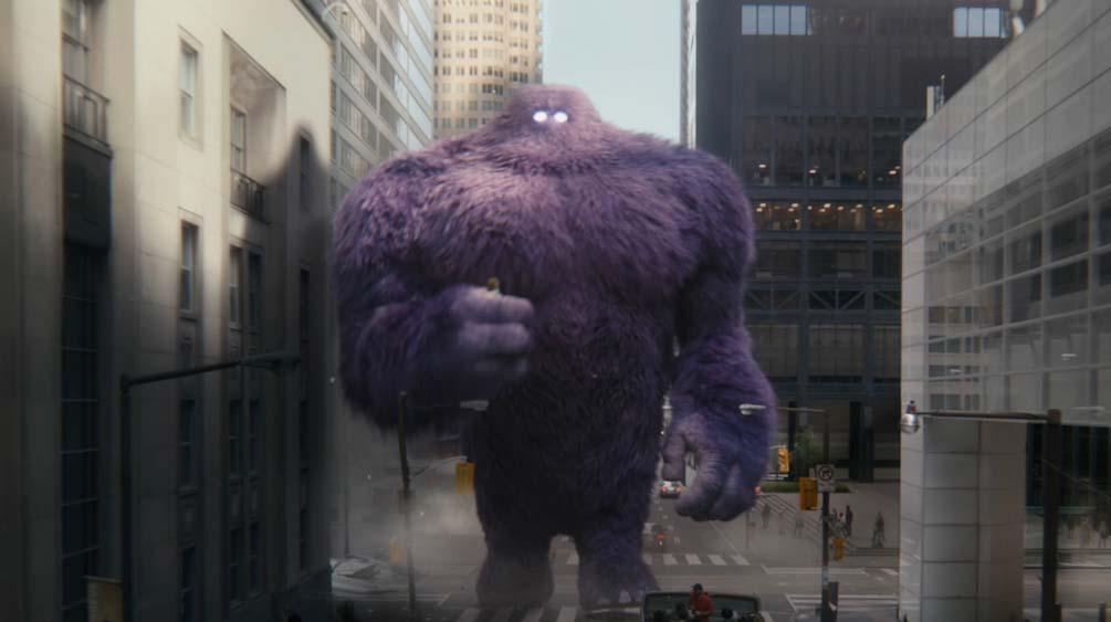 Monster.com monster carrying woman CGI