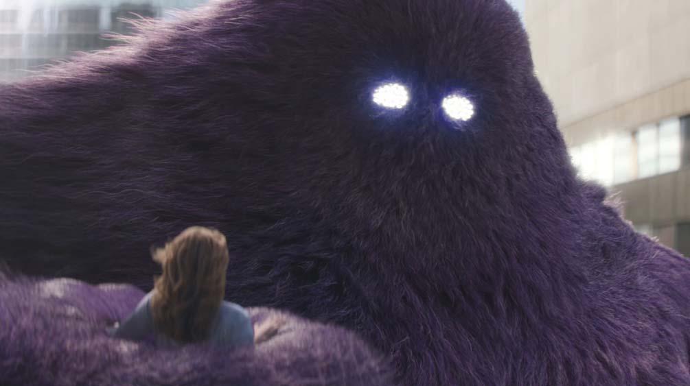 Monster.com monster carrying woman CGI closeup