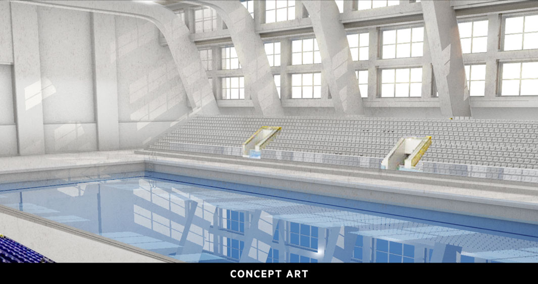 Audi 'Synchronised Swim' Concept Art