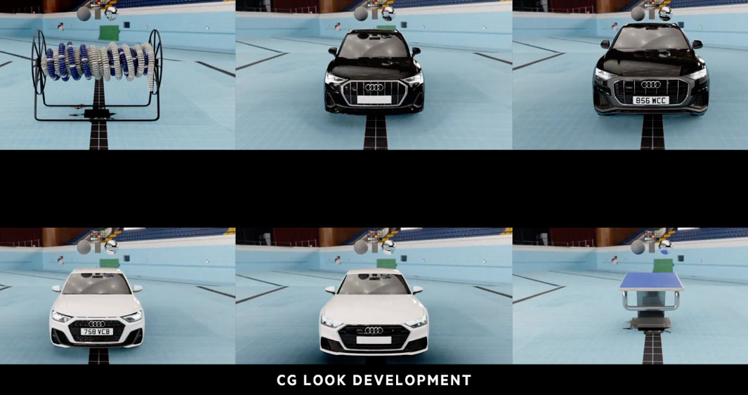 Audi 'Synchronised Swim' CG Look Development