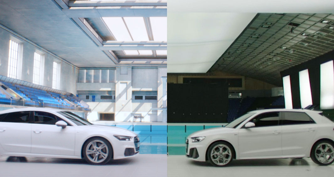 Audi 'Synchronised Swim' Before and After