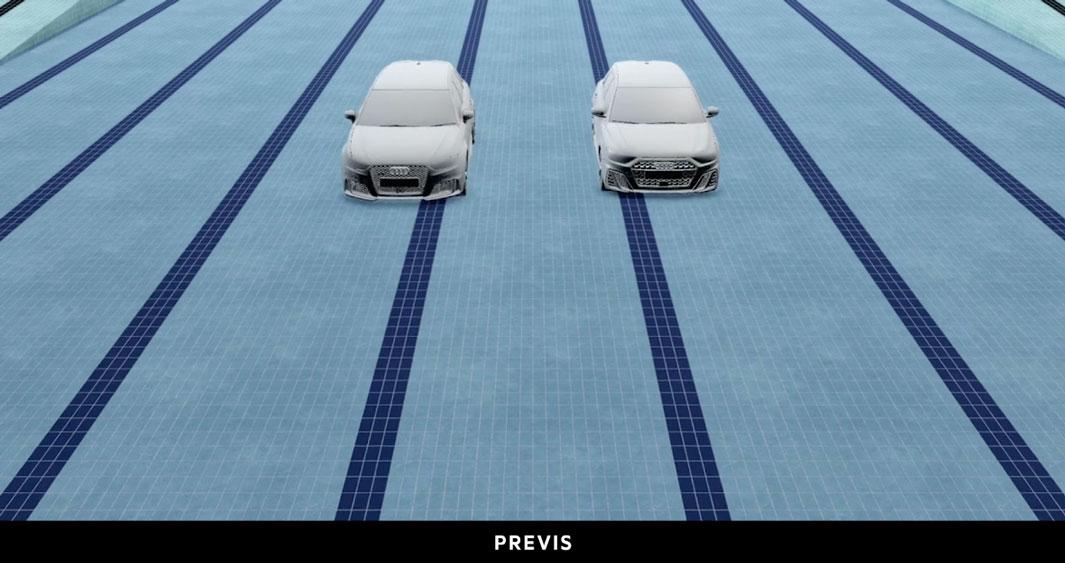 Audi 'Synchronised Swim' Previs