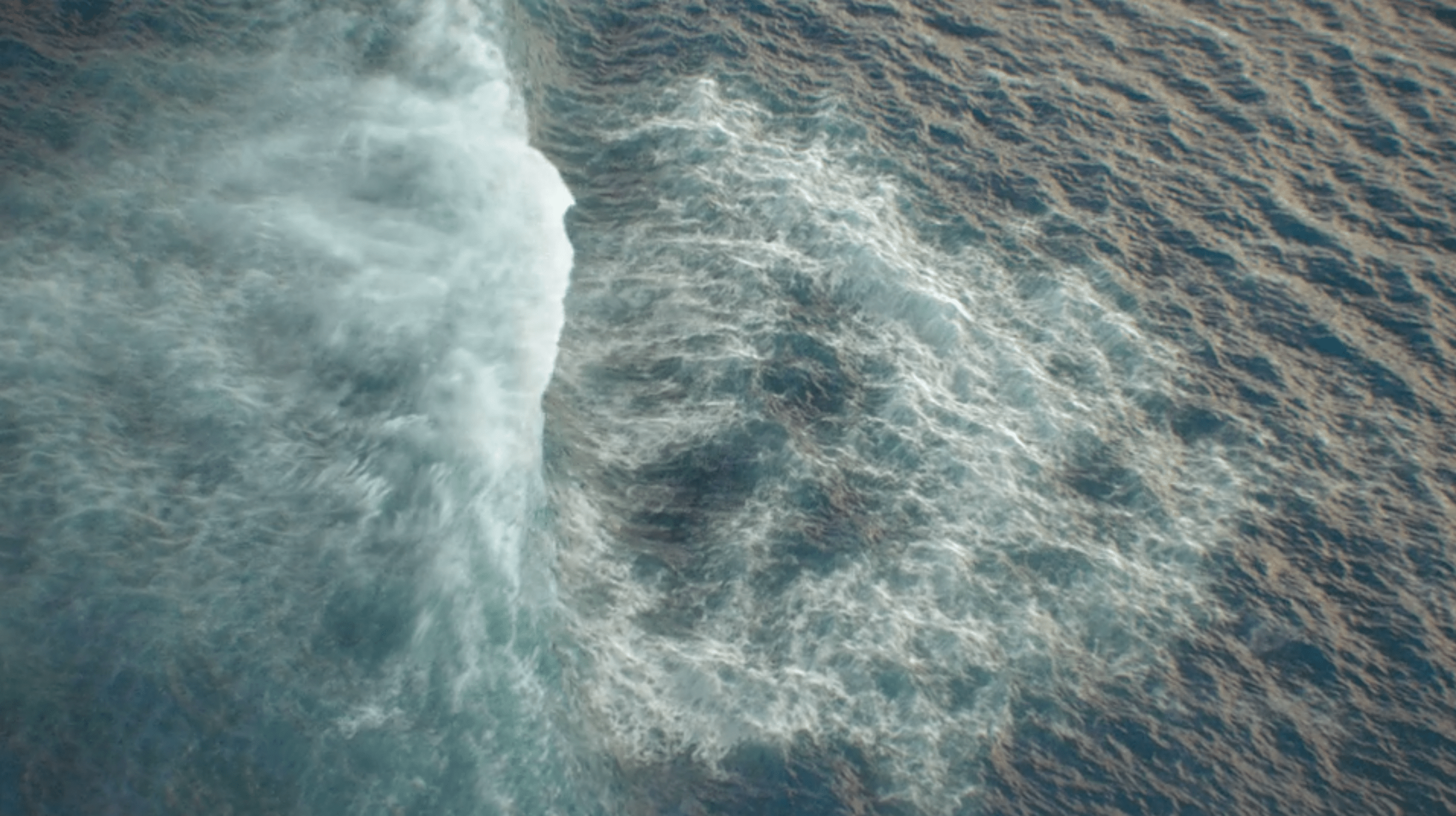 Crashing waves from above CG