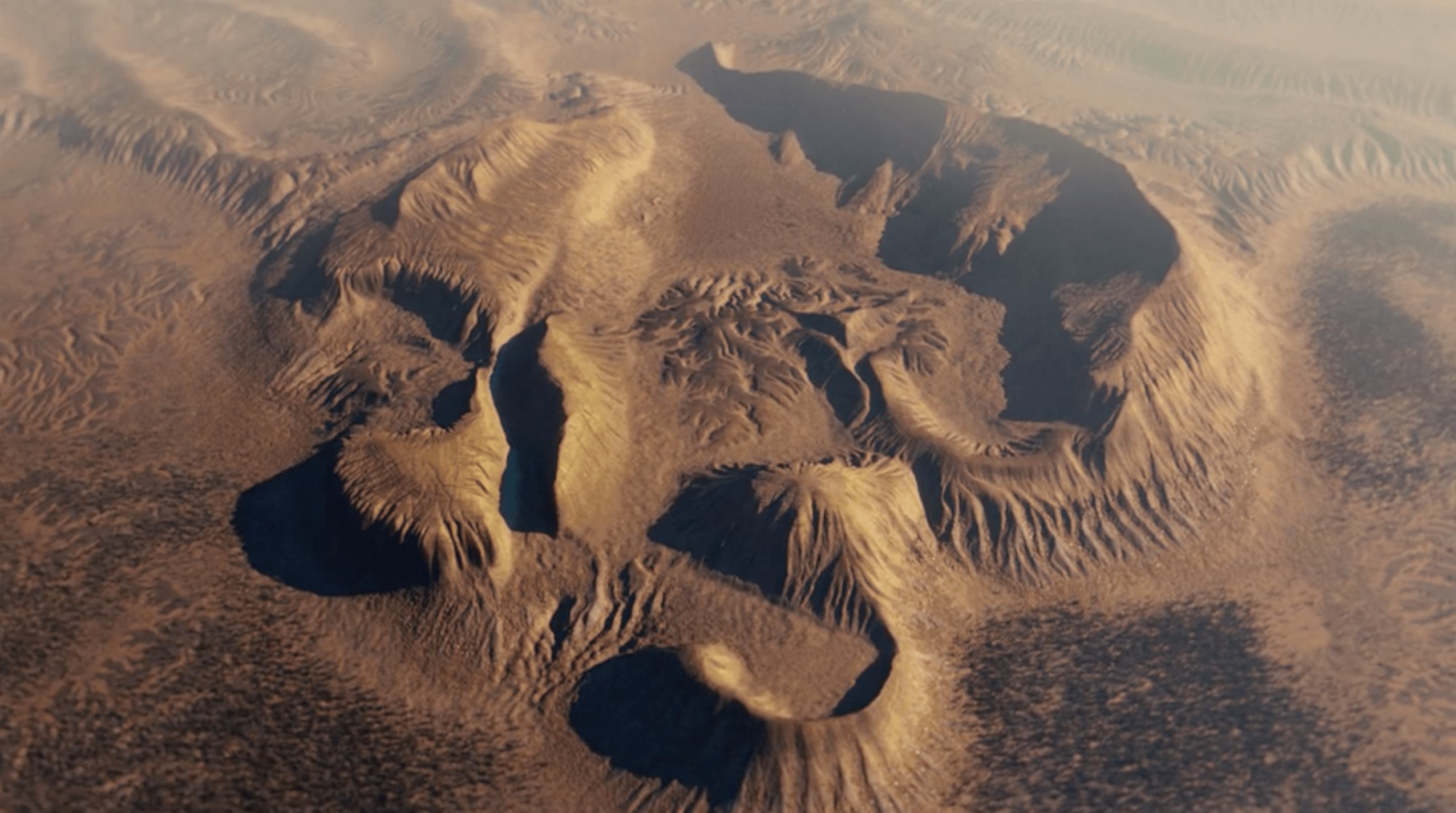 Desert mountains - Colour