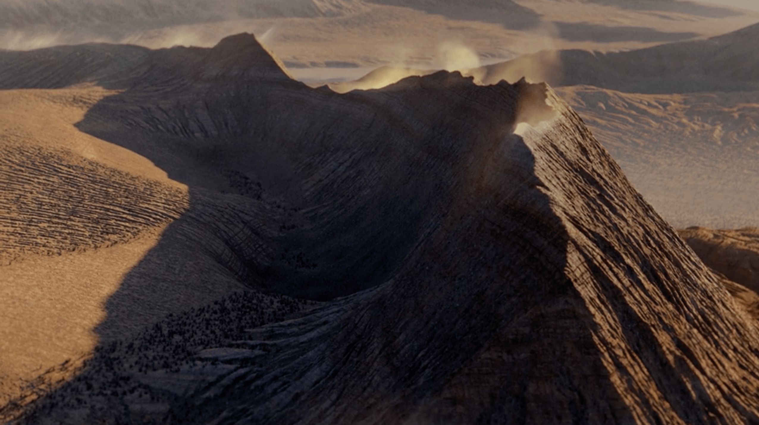 Mountain tops and sand VFX