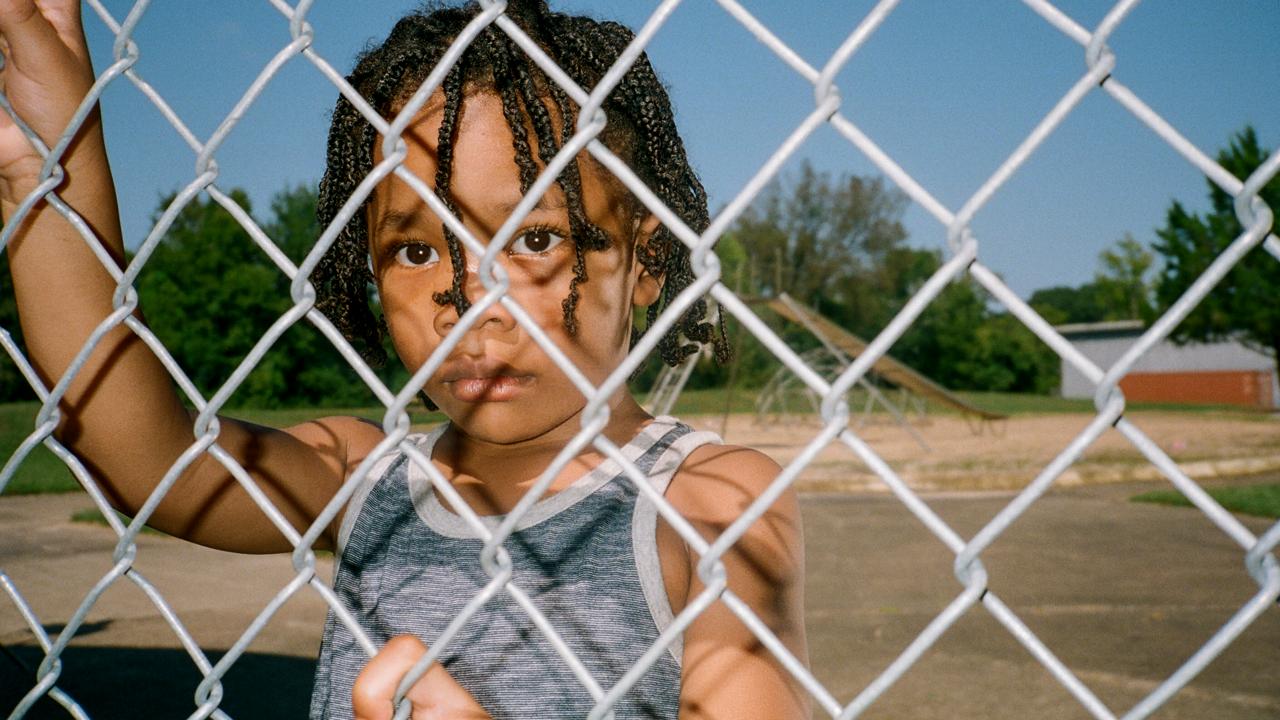 Boy in playground. Mississippi